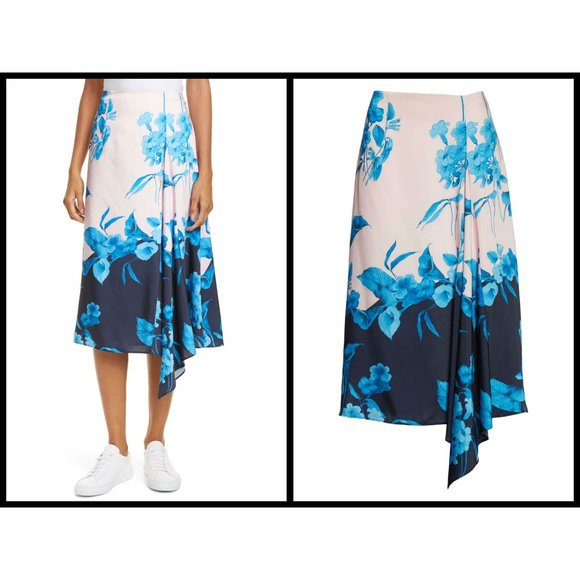 Ted Baker London Dresses & Skirts - TED BAKER Nemea Fantasia Floral Asymmetrical Skirt